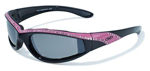 Global Vision Eyewear Marilyn 11Damen Riding mit Flash Mirror Gläsern, schwarz/rosa