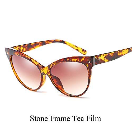 YUHANGH Lady Luxury Cat Eye Sonnenbrillen Persönlichkeit Frauen Shades Trendige Sonnenbrille Brillen Reisen
