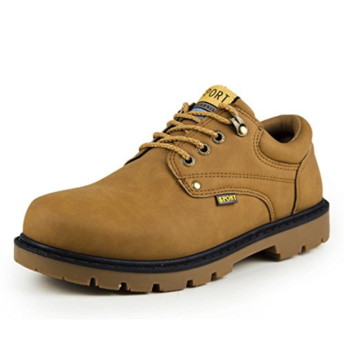 Men's Lace Up Martin PU Leather Ankle Shoes brown