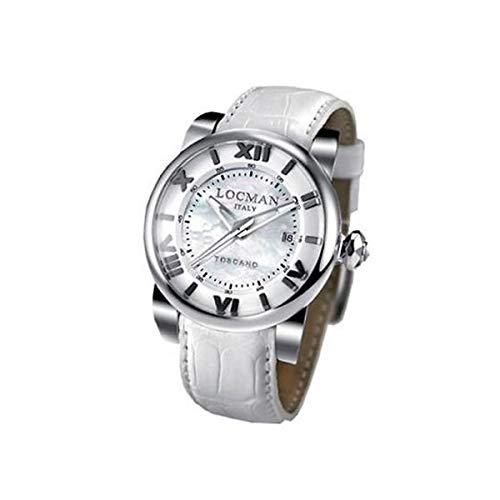 Locman Reloj Análogo clásico para Mujer de Cuarzo con Correa en Cuero 595V1200MWPSW