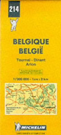 Carte routière : Tournai - Dinant - Arlon, N° 214