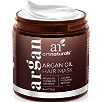 ArtNaturals Argan Oil Hair Mask - (8 Oz/226g) - Deep Conditioner - pure Organic Jojoba Oil, Aloe Vera & Keratin - Repair Dry, Damaged Or Color Treated Hair After Shampoo - Sulfate Free