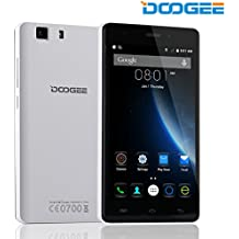 DOOGEE X5 Pro, Unlocked 4G Smartphone - 5.0'' IPS Screen - 2GB RAM+16GB ROM - Dual SIM Mobile with Dual Camera - Long Standby SIM Free - Android Cell Phone - White