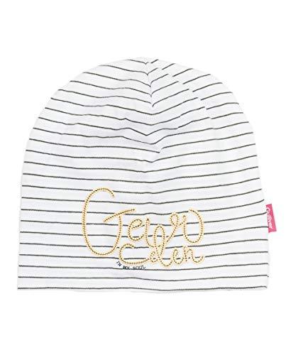 Gulliver Mädchen Mütze | Farbe Weiß Gestreift | Baumwolle | mit Pailletten Druck |...
