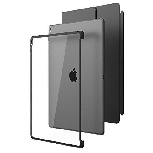 i-Blason iPad Pro 12,9 (2017) Hülle, [Kratzfest] Klarer Hybrid-Deckel [Kompatibel mit Offiziellen Apple iPad Pro Smart Keyboard] (Schwarz)