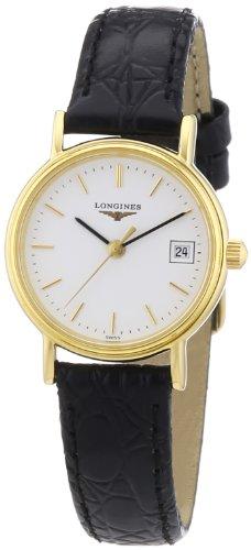 Longines Damen-Armbanduhr XS Presence Analog Quarz Leder L4.220.2.12.2