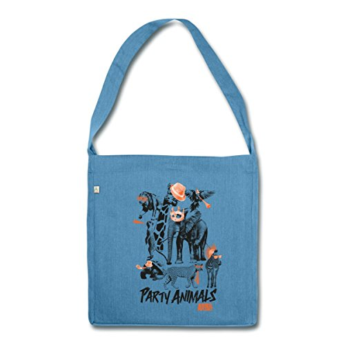 party-tiere-animal-planet-schultertasche-aus-recycling-material-von-spreadshirtr-blau-meliert