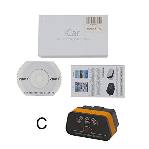 Ksruee Autodiagnostik Scanner-Detektor, Bluetooth 3.0 OBD2 ELM327 Automotor Diagnosescanner Codeleser Unterstützung für Android und Windows Java Chip
