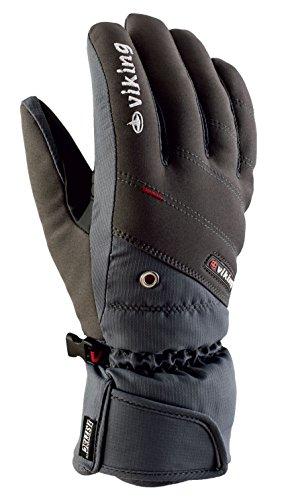 Viking Handschuhe Winter Skihandschuhe Herren - atmungsaktiv und wasserdicht- mit AQUA THERMO TEX Membrane - Torin, 08 grau, 9