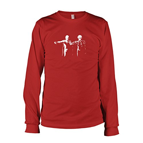 TEXLAB - Punch Fiction - Herren Langarm T-Shirt, Größe L, rot