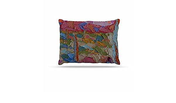 20 by 20 Kess InHouse Jeff Ferst Saguaros in Spring Blue Multicolor Throw Pillow