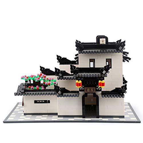 YxFlower 1575 Stück Custom Bausteine Modell Architektur Spielzeug - DIY Puzzle Bausatz Modell Baukasten Kompatibel mit großen Marken Militär Baustein - Chinesischen Stil Architektur
