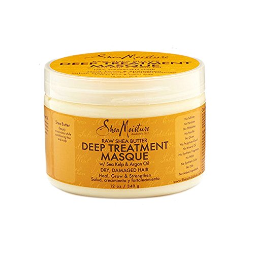Shea Moisture Raw Shea Butter Deep Treatment Masque, 1er Pack (1 x 340 g) Shea Butter Hair Mask