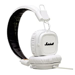 marshall major casque audio blanc 121 db prise jack 3 5 6 35 mm c ble d 39 1 2 m high tech. Black Bedroom Furniture Sets. Home Design Ideas