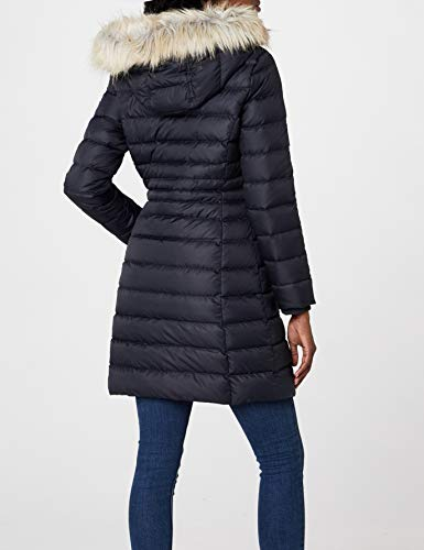 Tommy Jeans Hilfiger Denim Damen Mantel THDW Basic Coat 3, Schwarz (Black Beauty 003/Dark Blue), X-Small - 6