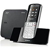 Gigaset SL350, Teléfono (Teléfono DECT, 500 entradas, Servicios de Mensajes Cortos (SMS), Negro, Plata)