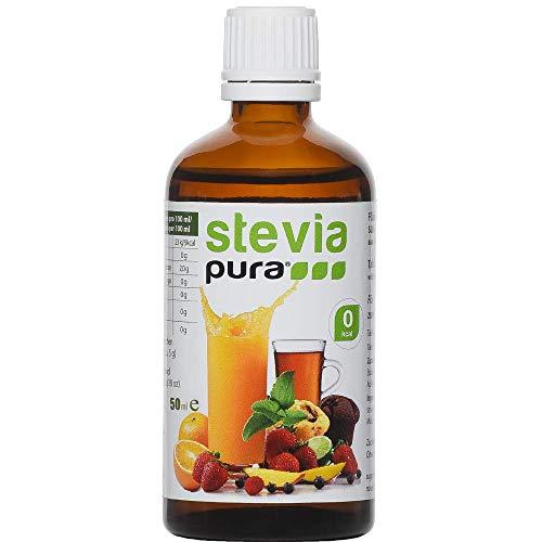 Flüssiges Stevia Extrakt Fluid (Tafelsüße) 50ml - STEVIA Fluid - flüssiges Stevia Extrakt/natürliches Süßungsmittel/Premiumqualität/Zuckerersatz