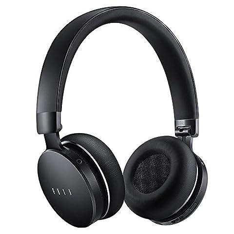 Casque Audio FIIL CANVIIS PRO Noir - Bluetooth sans fil, réducteur de Bruit Actif, stéréo, 4Go de Stockage intégré, compatible Android Iphone Smartphone.Réduction Active de Bruit