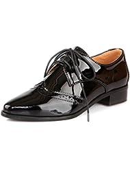 Lucksender - Zapatos Planos con Cordones mujer