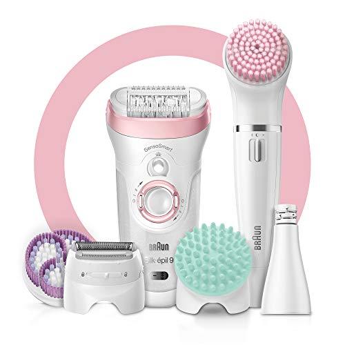 Braun Silk-épil Beauty-Set9 9-995 Deluxe 9-in-1 Kabellose Wet&Dry Haarentfernung, Epilierer, Rasierer, Peeling, Reinigungskit Für Gesicht und ()