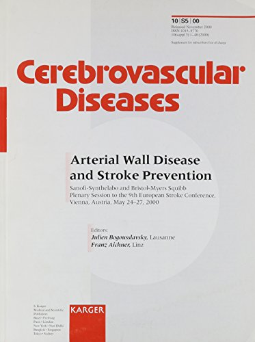 arterial-wall-disease-and-stroke-prevention-9th-european-stroke-conference-vienna-may-2000-sanofi-sy