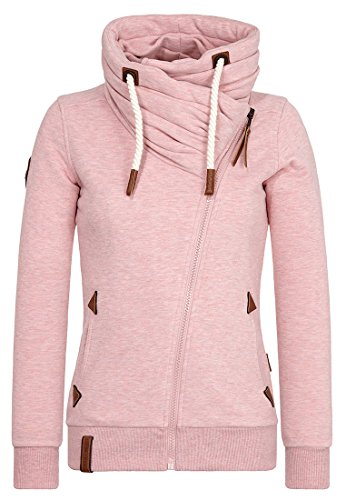 Naketano Female Zipped Jacket Jedi Path III Schmutzmuschi Pink Melange, L