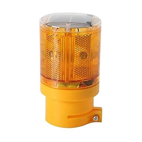 LEDHOLYT 0.3w Solar Powered Emergency Strobe Warning Light Wireless Flashing Barricade Safety Road Construction Traffic Flicker Beacon Lamp Yellow