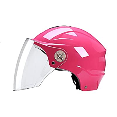 JG GJ Helmet - Motorcycle Men And Women Electric Car Universal Summer Half-covered Lightweight Half Helmet Four Seasons Sunscreen Helmet from GJ