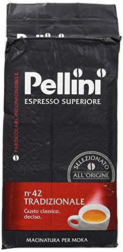 Pellini Caffè, Espresso Superiore Caffè Macinato per Moka No. 42 Tradizionale - Confezione da 250 gr