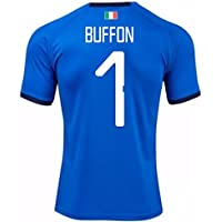 2018-19 Italy Home Football Soccer T-Shirt Camiseta (Gianluigi Buffon 1)