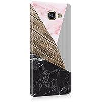 Noir Rose Marbre & Bois Motif Coque Housse Etui De Protection Plastique Dur Ligne Profil Slim Pour Samsung Galaxy A5 2016 Hard Plastic Case Cover