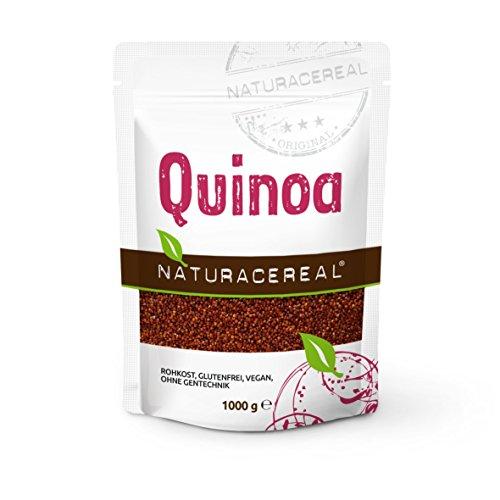 NATURACEREAL Quinoa, rot, 1000 g (1x1kg) – Glutenfrei und eiweißreich