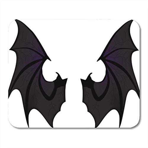 AOCCK Gaming Mauspads, Gaming Mouse Pad Purple Vampire Bat Wings Halloween Evil Flight Angel Animal Bird 11.8