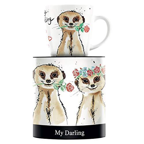 RITZENHOFF My Darling Kaffeebecher von Michaela Koch, aus Porzellan, 300 ml, mit trendigen Motiven