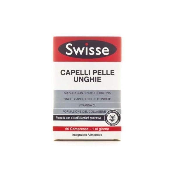 Swisse Integratore Capelli Pelle Unghie, Integratore Alimentare con Biotina, Zinco, Vitamina C, Ferro, Silicio ed… 1 spesavip