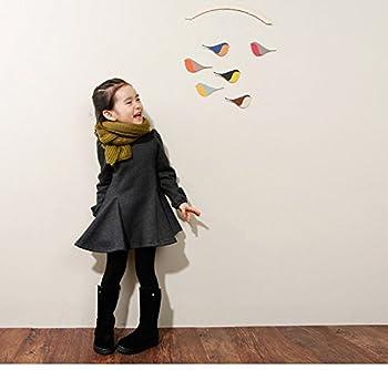 M-g-x Children 'S Clothing Autumn & Winter New Girls Cotton Thick Bow Peng Peng Dress Size 140cm (Gray) 5
