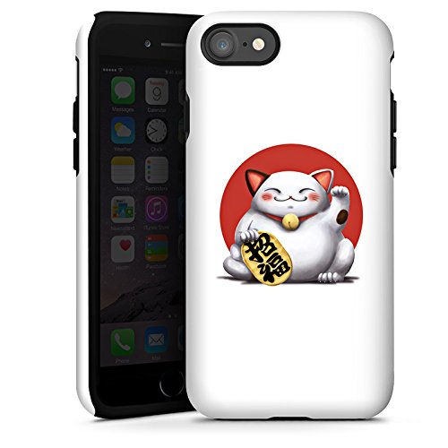 Apple iPhone X Silikon Hülle Case Schutzhülle Kawaii Katze Japan Tough Case glänzend