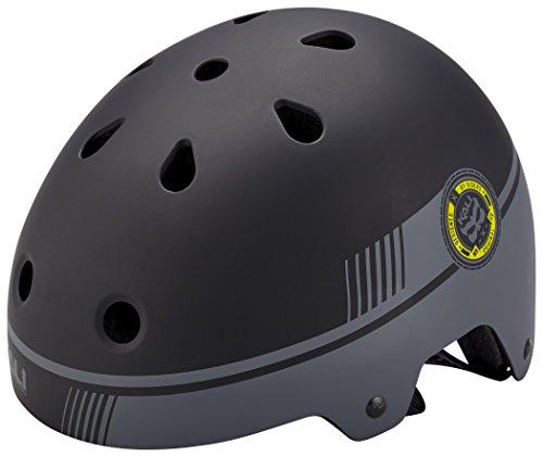 Kali Protectives 0230217115Helm für BMX und Skate Unisex Kinder, schwarz, Größe: S