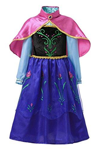 Inception pro infinite taglia 130 - 5 - 6 anni - costume - carnevale - halloween - anna - bambina - colore blu - con mantello rosa - frozen