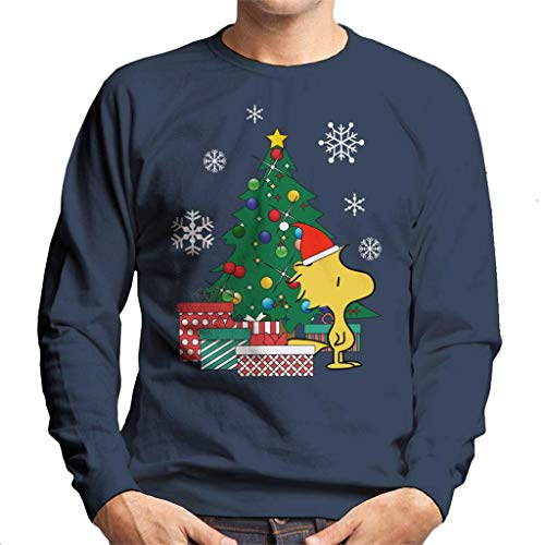 Cloud City 7 Woodstock Around The Christmas Tree Peanuts Men's Sweatshirt