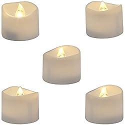 Paquete de 12 velas con batería, realista y brillante