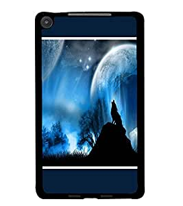 PrintDhaba Night Sky View D-1304 Back Case Cover for ASUS GOOGLE NEXUS 7 2013 (Multi-Coloured)