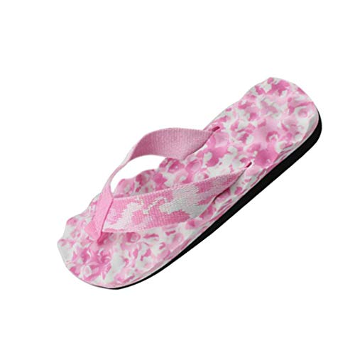 Kobay Donne Estate Calzature Infradito Sandali Slipper Indoor e Outdoor Flip-Flop(Rosa,39)