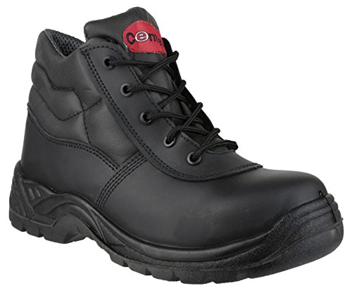 Centek Mens FS30C Leather S3 Work Safety Boot Black Black