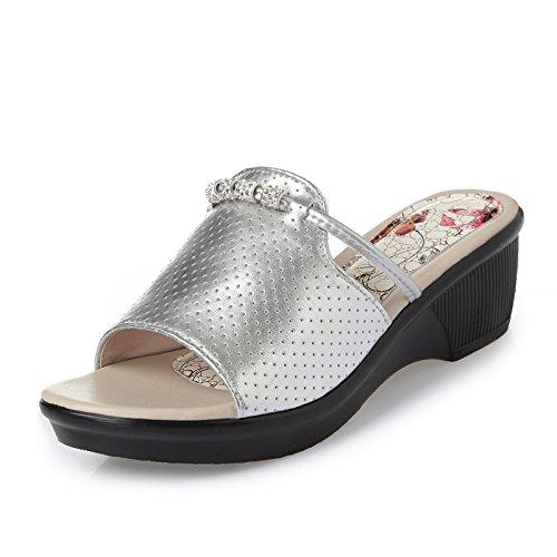 ZPPZZP Ms sandali pantofole in estate spessa trascinare un campo 36EU