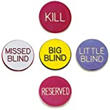 1'' Poker Button Combo Pack (Little, Big, Kill, Miss, Reserve) by Brybelly by Brybelly