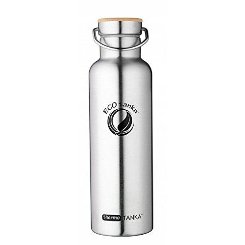 ECOtanka thermoTANKA, 800ml, Thermo-Flasche, Edelstahl-Trinkflasche, doppelwandig, Vakuum-isoliert, öko & robust