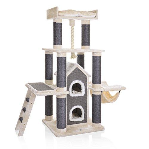 CanadianCat Company | XXL Kratzbaum Toronto 2 | beige | speziell für große und Schwere Katzen | 15cm Säulendurchm.
