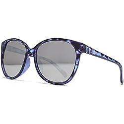 American Freshman Weicher viereckiger Cateye Sonnenbrillen in blau lila schildpatt AFS013 One Size Brown Gradient