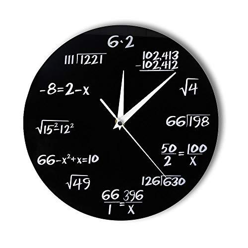 GZXYYY Technik Digital Mathematik Wanduhr Math Equation Dekoration Uhr Test Wand Kunst Wissenschaft Geschenk für Math Geek und Lehrer